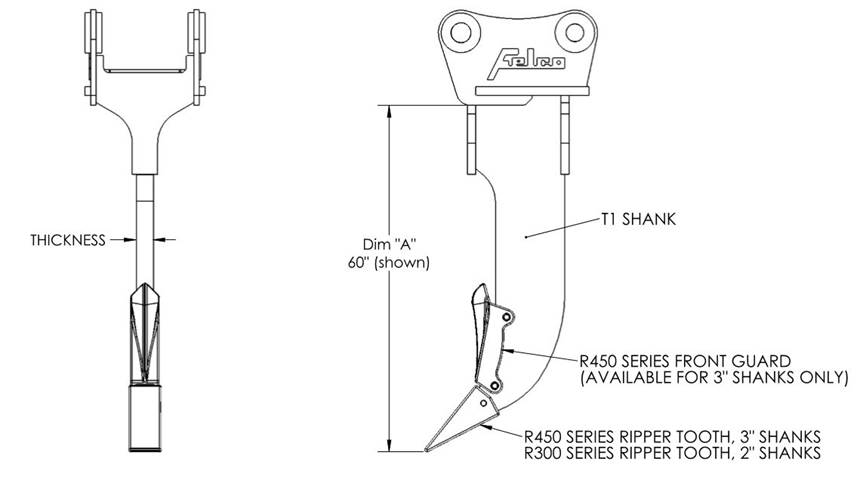 Felco ripper shank diagram